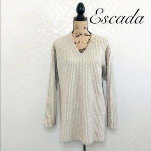 ESCADA 100% CASHMERE KNIT OVERSIZED SWEATER SMALL